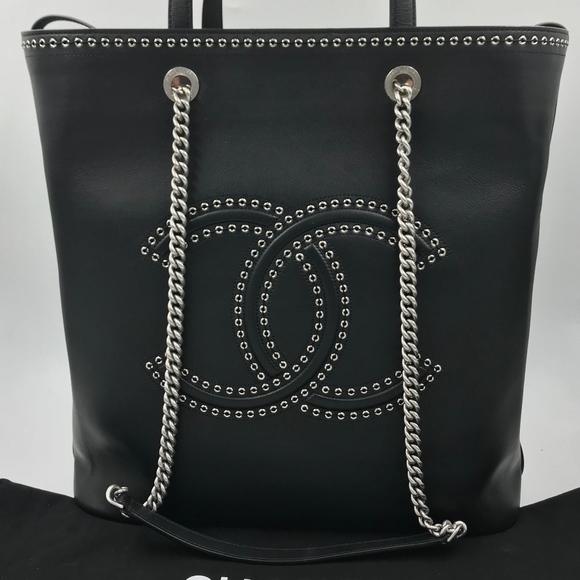 bbe1bea299686f CHANEL Bags | Authentic Eyelet Cc Large Shopping Bag | Poshmark